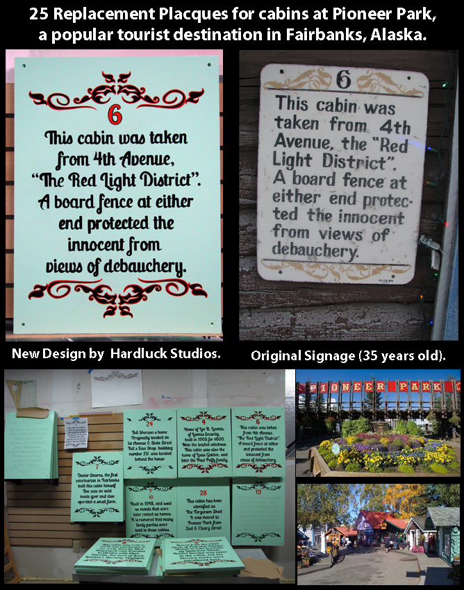 Pioneer Park Cabin Plaques